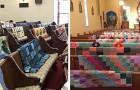 La abuela cosía siempre maravillosas mantas: los nietos la honran exponiéndolas en la iglesia durante el funeral