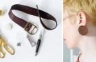 Il tutorial semplice e creativo per realizzare fantastici orecchini usando una vecchia cintura di cuoio