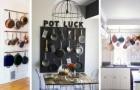 14 geniali soluzioni d'arredamento per fare spazio a tutte le pentole e gli attrezzi della cucina