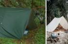 La tecnica semplice, casalinga ma efficace per costruire una tenda improvvisata