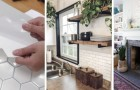 12 trovate facili e strepitose per per rivestire le pareti di casa con le piastrelle adesive