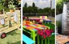 10 progetti fai-da-te per riciclare i pallet in giardino nei modi più diversi e creativi
