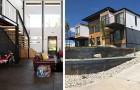 Un pompiere costruisce un'enorme casa usando 9 container navali: un capolavoro dallo stile