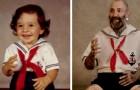 12 gamla barndomsbilder som återskapades flera år senare in i minsta detalj