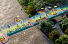 Un gruppo di architetti trasforma un ponte di Shanghai in passaggio pedonale colorato e all'avanguardia