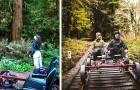 Diese Bahn ermöglicht es den Besuchern, auf den Schienen zu