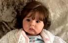 Den här flickan föddes med så långt och tjockt hår att människor förväxlar henne med en porslinsdocka