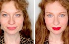 This makeup artist shows her clients small tricks that drastically improve their look