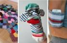 8 irresistibili lavoretti per riciclare calzini spaiati o rovinati con grande creatività