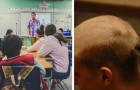 Zomba de uma colega que perdeu os cabelos por causa da quimioterapia: seu pai raspa a sua cabeça a zero como punição