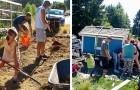 Una bambina di 6 anni coltiva ortaggi per le persone in difficoltà e costruisce delle casette dove farle riparare
