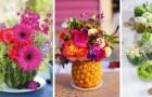 10 spunti coloratissimi per creare centrotavola fioriti dentro