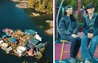 Moglie e marito vivono in una casa galleggiante che hanno costruito con le loro mani quasi 30 anni fa