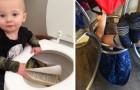 13 lustige Fotos von Kindern, die ihren Eltern schön zu schaffen machen