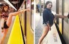 Sie stellt Fotos von Models in den absurdesten Posen nach und demonstriert damit, wie sehr sich die Realität von der der sozialen Medien unterscheidet