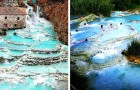 Saturnia: le favolose terme con piscine naturali, acque turchesi e rocce bianche immerse nel cuore dell'Italia