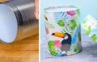 Il tutorial passo a passo per trasformare un semplice barattolo di latta in un fantastico contenitore con coperchio