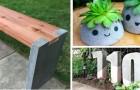 10 propositions étonnantes pour décorer votre jardin avec des créations DIY en béton