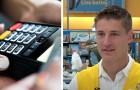Eine Mutter kann den Einkauf für die Kinder nicht bezahlen: Der Kassier nimmt das Geld dafür aus seiner eigenen Tasche