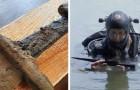 Un team di archeologi ha ritrovato un'antica spada medievale in un lago della Polonia: risale a 1000 anni fa