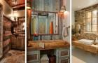 13 proposte creative per arredare i bagni in pieno stile rustico