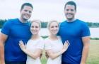 2 gemelle identiche sposano 2 gemelli identici: ora aspettano bambini che saranno sia cugini che fratelli genetici