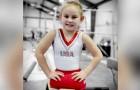 Född utan ben, 8 år gammal är hon en talang inom artistisk gymnastik och en inspiration för alla