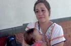 Uma mãe é expulsa de um parque aquático porque estava amamentando seu bebê e vai embora aos prantos