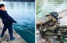 Dieser 10-jährige Junge ist dabei, die Seine zu säubern: Mit Magneten hat er bereits 7 Tonnen Müll rausgezogen