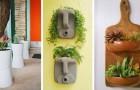 10 idées joyeuses et originales pour décorer vos balcons avec des jardinières fabriquées à partir d'objets recyclés