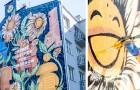 Questo murales ecologico è stato realizzato con una vernice che