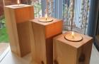 13 splendidi porta-candele da realizzare con legno, fiori, frutta e altri elementi naturali