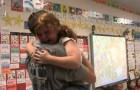 While reading a story in class, this little girl gets the best surprise ever !!