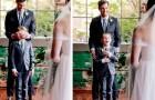 Junge sieht seine Stiefmutter zum ersten Mal im Brautkleid und beginnt vor Freude zu weinen