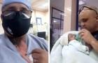 Um enfermeiro salva a vida de um bebê prematuro aplicando a terapia canguru, como se fosse sua mãe