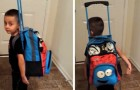 His mother grounded him: he filled his backpack with toys and decided to leave home
