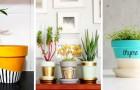 10 spunti fai-da-te per decorare vasi di terracotta e renderli oggetti dal design moderno e accattivante