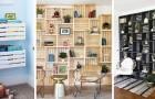 11 soluzioni ingegnose e bellissime per arredare i vostri ambienti riciclando le cassette di legno