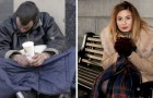A homeless man offers his last money to a girl in need: she raises 42,000 pounds to give him a home