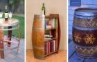 12 proposte accattivanti per riciclare le botti di legno e trasformarle in mobili dall'aspetto unico