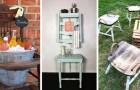 10 proposte super-fantasiose per riciclare vecchie sedie e trasformarle in oggetti d'arredo affascinanti