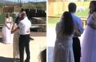 La suegra se presenta vestida de blanco y baila estrecha al hijo robando la escena de la novia durante la boda
