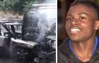 Den här tonåringen räddade en mamma och hennes 3 barn från en brinnande bil