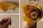 Il metodo semplice e veloce per modellare splendide rose con le foglie autunnali