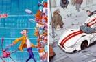 Een kunstenaar toont alle absurditeit van onze verwrongen samenleving in originele en kleurrijke tekeningen