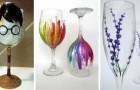 13 idées super créatives pour récupérer des calices et des verres dépareillés en les peignant de façon originale