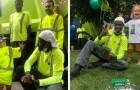Müllabfuhrmänner überraschen einen Dreijährigen, indem sie mit den LKWs eine Parade zu seinem Geburtstag organisieren