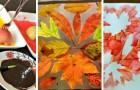 8 lavoretti autunnali tutti da provare per divertirsi con l'arte sensoriale insieme ai bambini