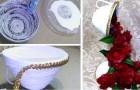 La tecnica fai-da-te per creare una cascata di fiori usando rotoli di carta e fiori finti