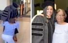 Consegue il dottorato dopo 3 anni e fa un sorpresa alla mamma per ringraziarla di tutti i sacrifici fatti per lei